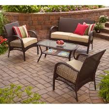 indooroutdoor patio furniture all weather wicker 4 pc with seat covers all weather wicker patio furniture i5