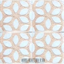 rustic tile moorish rug bath