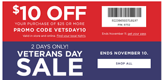 Kohl's: 2 Day Veterans Day Sale + $10 Off!