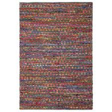 grey green cotton 4 ft x 6 ft area rag rug