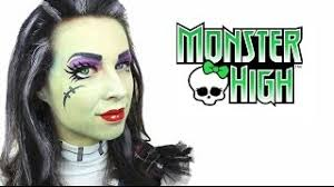 frankie stein monster high makeup tutorial