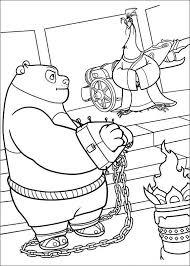 Kung Fu Panda Kleurplaten Po In Handboeien April Kung Fu Panda