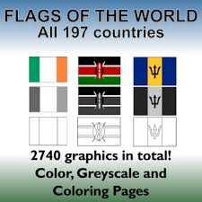 The top 10 most common groups of flag colors. Flags Of The World 2740 World Flags All 197 Countries Incl Coloring Pages