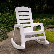 adams mfg corp white resin stackable patio rocking chair at com