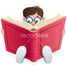 reading kid vector on vectorstock