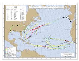 Atlantic Basin Hurricane Tracking Chart National Hurricane Center Miami Florida 2015 Atlantic Hurricane Season