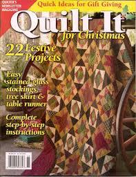 Magazine Articles & quilt it for christmas - cranbrook christmas Adamdwight.com
