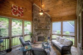 rustic porch with bluffstone stone veneer al fresco stainless steel outdoor vent free gas