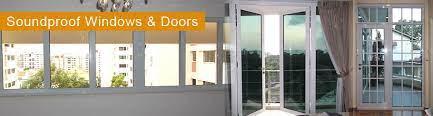 acoustic double glazed windows and doors
