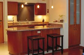 engaging image of kitchen decoration with small wooden kitchen bar astonishing small u shape kitchen