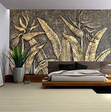 Murwall 3D Embossed Wallpaper Gold ...