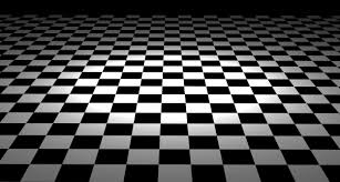 Simplistic Black And White Interior Themes Added Lovable Checkered Floor  Ceramic Tiled Installations Designs