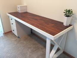 diy desk old solid wood door topped with s laminate s diy desk old solid wood door topped with s laminate s trim red