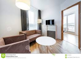 Modern Interior Designs For Living Rooms Modern Interior Design Wide View Of Living Room Stock Photo