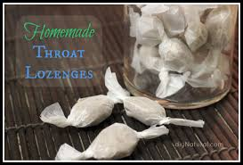 homemade herbal throat lozenges