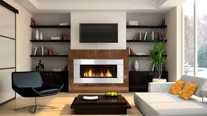 contemporary fireplace insert room
