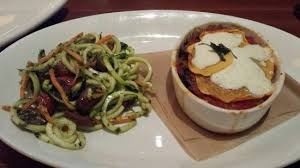 houlihan s restaurant and bar at doubletree the ernut squash lasagna zucchini pesto spiral