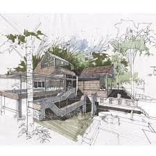 architectural hand drawings. Architectural Sketches, Hand Drawings, Architecture Drawings A