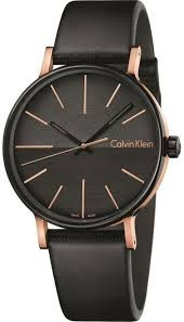 men s calvin klein boost black dial leather watch k7y21tcz loading zoom