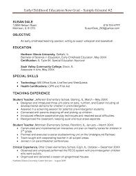 Early Childhood Education Resume Suiteblounge Com