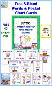 Free Printable Pocket Chart Cards S Blends Words And Pocket Chart Cards Free Pdf Speech
