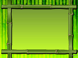 Green Bamboo Frame Backgrounds For Powerpoint Border And Frame Ppt