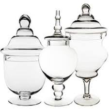 Decorative Glass Candy Jars Candy Buffet Jars Set of Three 100 Glass Apothecary Jar Set 13