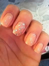 Light Pink Nails With Rhinestones Light Pink Nails With Rhinestones Nails Design With