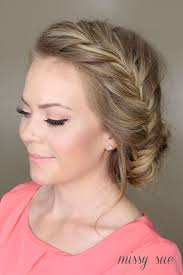 fishtail french braided bun easy everyday hairstyles with updos