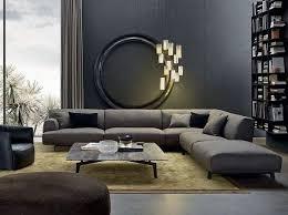 sofa designs for living room. Gray Corner Sofa Modern Living Room Interior Design Wall Color Gold Shade Carpet Designs For U