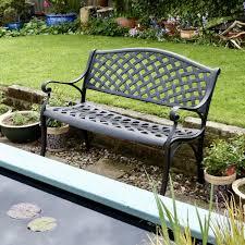 metal garden bench antique bronze