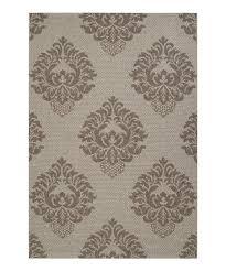 light gray dark gray elements indoor outdoor rug