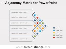 Matrix Chart Powerpoint Adjacency Matrix Diagram For Powerpoint Powerpoint Design