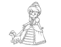 Disegno Di Principessa Con Cagnolino Da Colorare Acolorecom