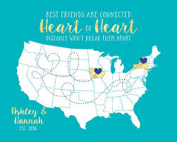 Distance Friendship Quotes 64 Amazing Gift For Best Friend Long Distance Friendship Quote Map
