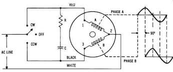 electrical power conversion systems mechanical systems part 2 circuit diagram of a single phase synchronous motor