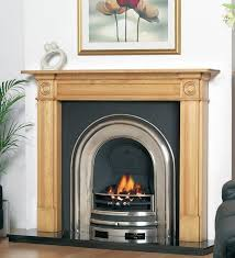 georgian wooden fireplace package with royal cast iron fire insert