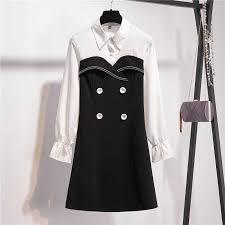 <b>L 4XL Plus Size Women</b> Luxury Dress Autumn 2019 Fashion White ...