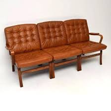 1970s couch a beautiful and extremely comfortable bentwood leather sofa this was made in and dates