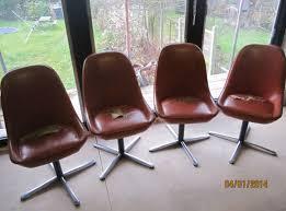 vintage 60s furniture. 4 X Vintage Vinyl Egg Swivel Chair With Chrome Legs 1960s Retro Furniture 60s L