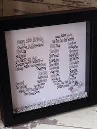 wall art personalised personalised shadow box frame 50th birthday word art design choose own wording and colours special birthd