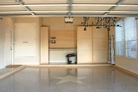 Modern Garage with Louvered Garage Board For Keeping Garage Tools and Pearl  Grey Wooded Garage Storage
