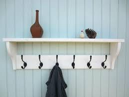 Decorative Wall Mounted Coat Rack New Decorative Wall Shelves With Hooks Coat Racks Stunning Mounted Coat