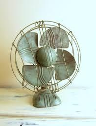 vintage dominion electric fan art deco desk or wall mount