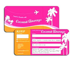 Free Downloadable Wedding Invitation Templates Beauteous Plane Ticket Invitation Template Free Flight Ticket Wedding