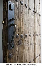 stock image doorknob and keyhole of old wooden door hollywood california usa