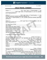child travel consent form consent letter for children travelling abroad