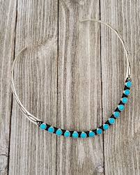 Herman Smith Sterling Silver Navajo Turquoise Collar Necklace– Turquoise925
