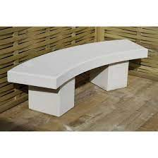 modern curved garden bench dry cast