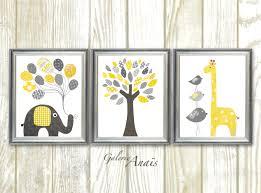 zoom on elephant and giraffe nursery wall art with giraffe nursery art print elephant nursery wall decor baby